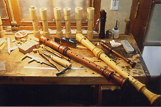 voice-flutes on the bench