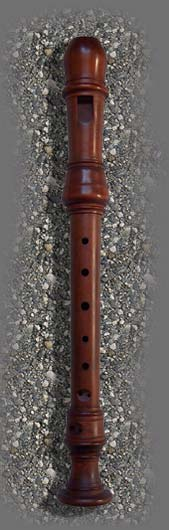 Sixth flute after Terton stained boxwood